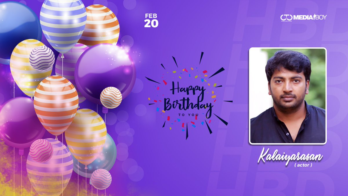 Team @CtcMediaboy wishes the talented actor @KalaiActor , a very Happy Birthday.  #HBDKalaiyarasan