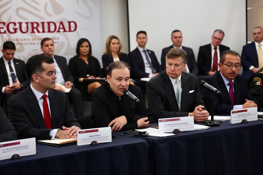 La coordinación de esfuerzos en el combate al tráfico ilegal de armas y drogas, es el tema principal que se expone en la Reunión Binacional de Planeación y seguridad Fronteriza, #Mexico #EEUU.