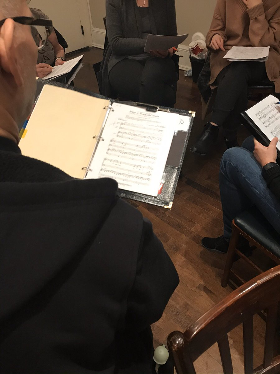 Hard at work last night @the_rcm Adult choir, figuring out solfege, and rhythm in small groups. #conductor #musician #teaching #musiceducation