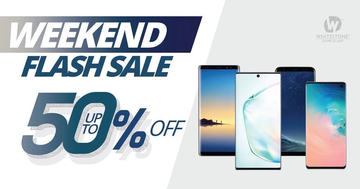 🔥🔥WEEKEND FLASH SALE 🔥🔥  PROTECT YOUR SCREEN EDGE TO EDGE #WhitestoneDomeGlass   FULL CLARITY  FULL PROTECTIVE FULL RESPONSIVE  CHECK OUT ON-GOING DEALS✔️   #screenprotector #iPhone #GalaxyNote10Plus #GalaxyS10Plus #AppleWatch  #Deals #weekend