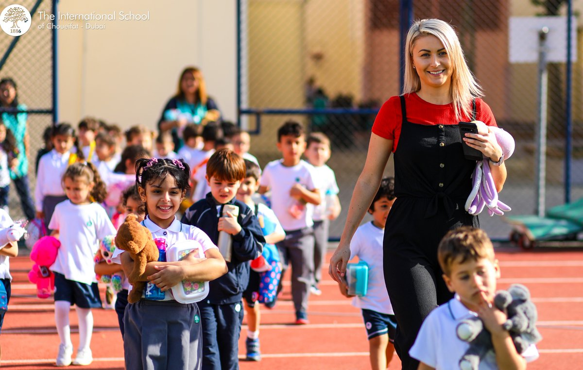 Aisling from Co. Kerry, Ireland, heading to the Teddy Bear picnic with her class at The ISC - Dubai. Aisling graduated from @ittralee & Saint Nicholas Montessori College Ireland.  Benefits of teaching with us:   @ITTraleeCareers   #teaching #education