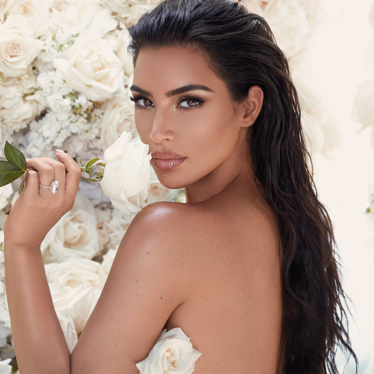 So excited to announce that the @kkwbeauty Mrs. West Collection inspired by my wedding day make up look created by @makeupbymario is being restocked for the first time since it launched and sold the out last year! https://t.co/nJFYUumjBs