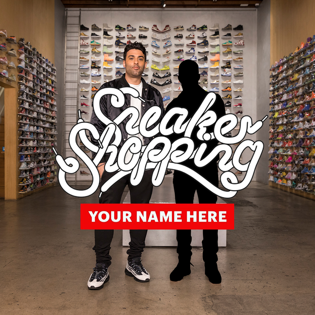 """Sneaker Shopping's"" contest for you to star in your very own episode on us in back.  For contest rules and regulations, hit the link below.  ENTER HERE:"