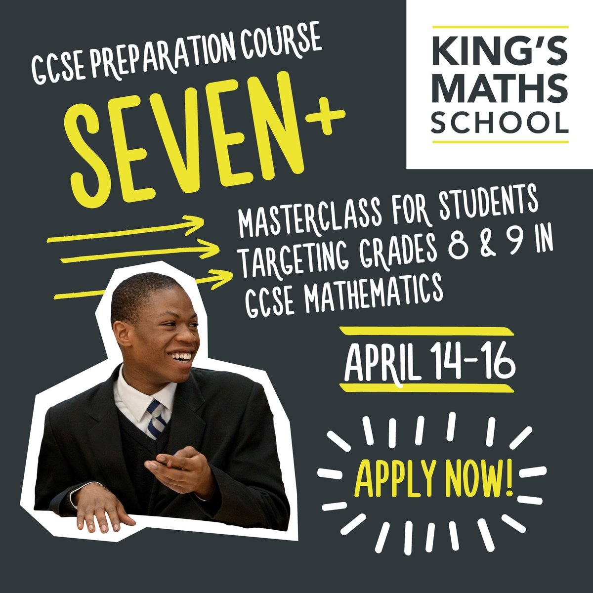 Are you in year 11? Do you like #maths? Our SEVEN+ could be for you - find out more and apply today!   Applications close Tuesday 25 February 👉  #GCSE #GCSEmaths