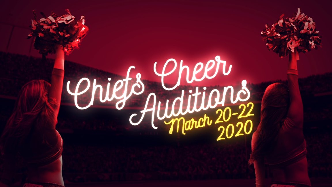 #ChiefsCheer Auditions are one month away!  📣  📣