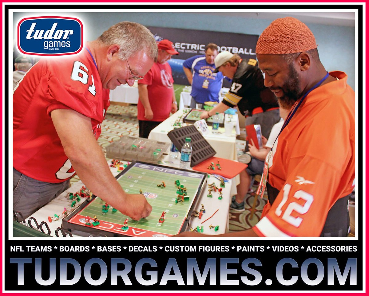 """#Games lubricate the body and the mind.""  Benjamin Franklin  Every #NFL Team & everything you need to start or to enhance your #ElectricFootball #Gaming Experience is available at  #GamersUnite #boardgames"