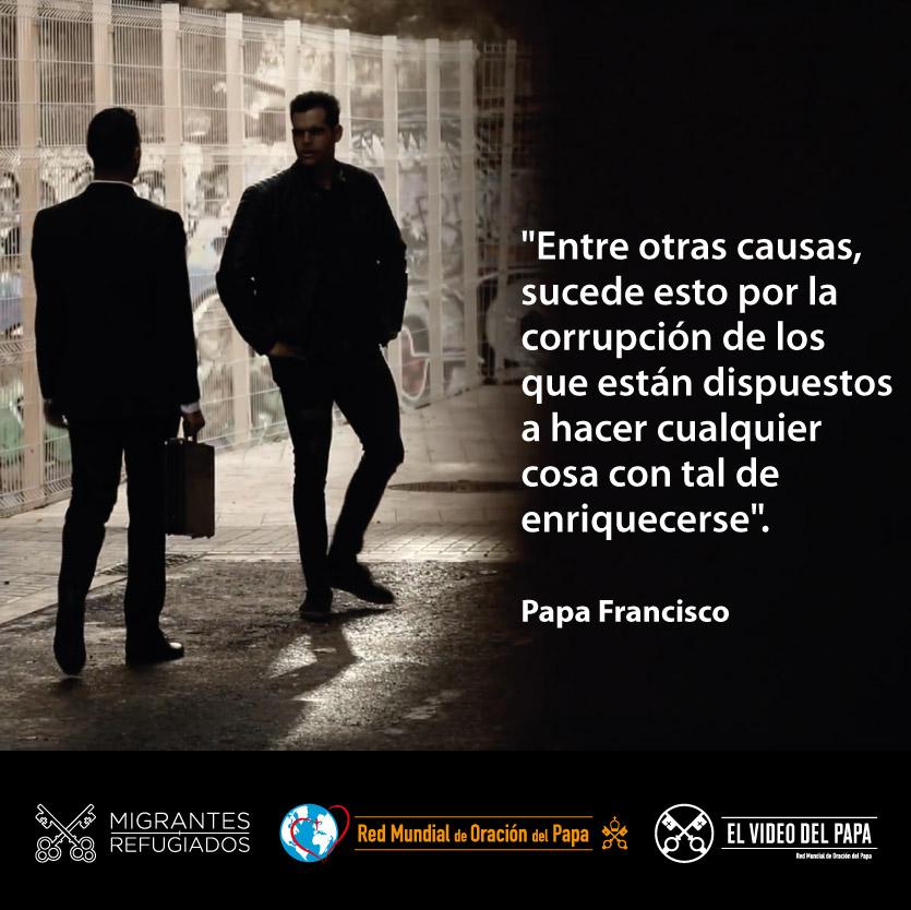 Detrás del tráfico y de la trata de personas nos dice @Pontifex_es también está el deseo de enriquecerse de hombres sin escrúpulos. #ContraLaTrataDePersonas #ElVideoDelPapa #PrayAgainstTrafficking @M_rseccion @talithakumrome