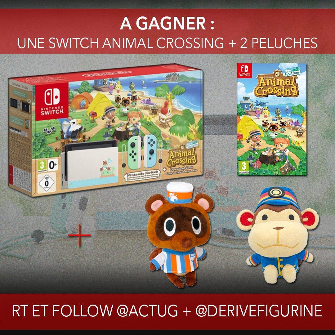 #CONCOURS : Une Nintendo Switch Animal Crossing à gagner + 2 peluches 😱😍  Pour jouer : 💥 #RT 💥 Follow @ActuG + @DeriveFigurine  💥 Indique ton #AnimalCrossing préféré en com' 👇  💥 Augmente tes chances :   Pour nous soutenir et + d'infos ⤵️
