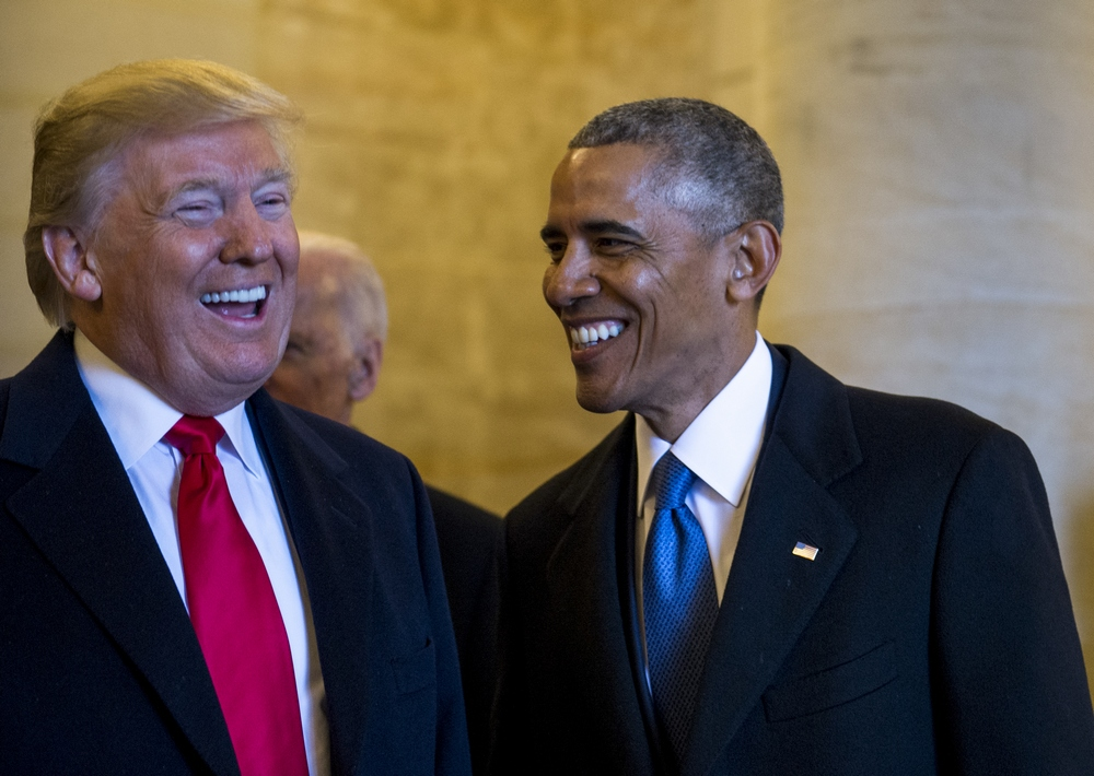 Former #PresidentObama took credit for the booming #economy in a tweet earlier this week, but voters still tend to think #PresidentTrump deserves more of the credit...