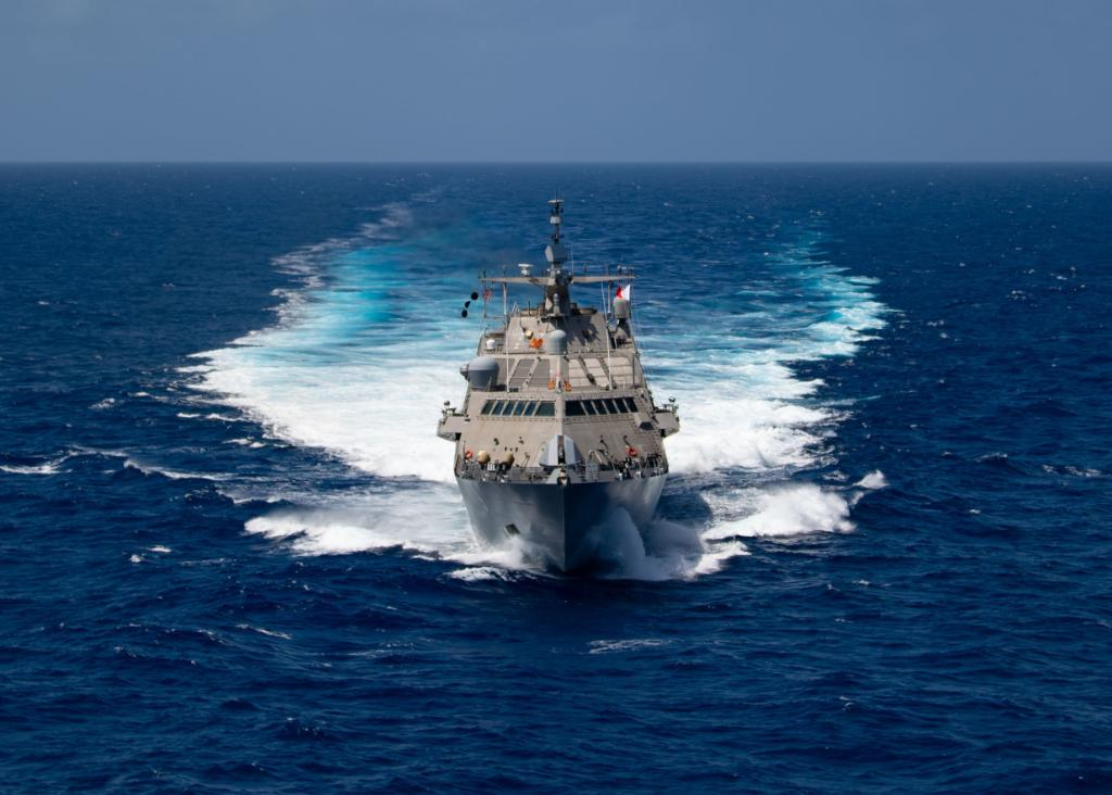 You can run... but you won't get far. #NavyReadiness  The Freedom-class littoral combat ship #USSLittleRock (LCS 9) operates in the @Southcom area of responsibility in support of Joint Interagency Task Force South Campaign, MARTILLO, targeting counter illicit drug operations.