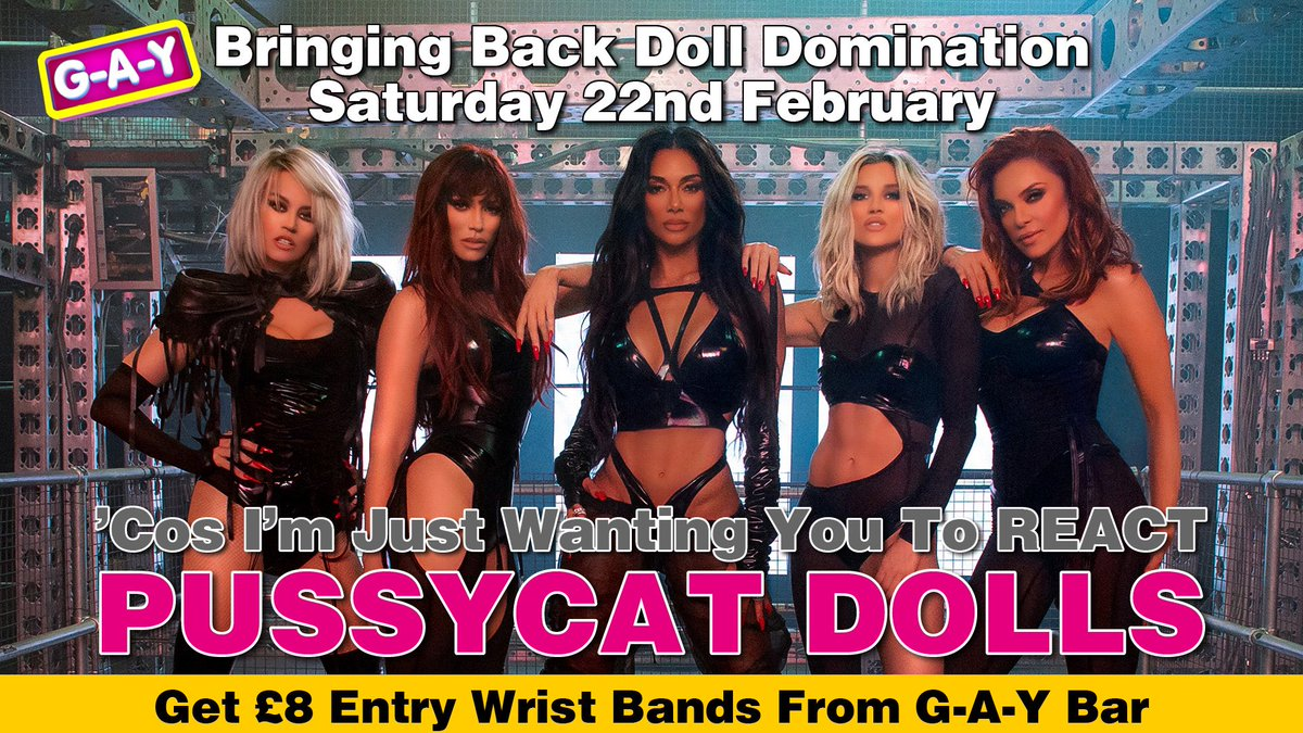 @NicoleScherzy Telling @ImAshleyRoberts Loosen Up @KimberlyKWyatt Buttons Baby,  But @JSutta Keep Fronting,  Saying What @therealCarmit Going Do To Me,   But I Ain't Seen Nothing,  @pussycatdolls Telling You Loosen Up  Your Buttons Saturday At G-A-Y #React #Heaven40