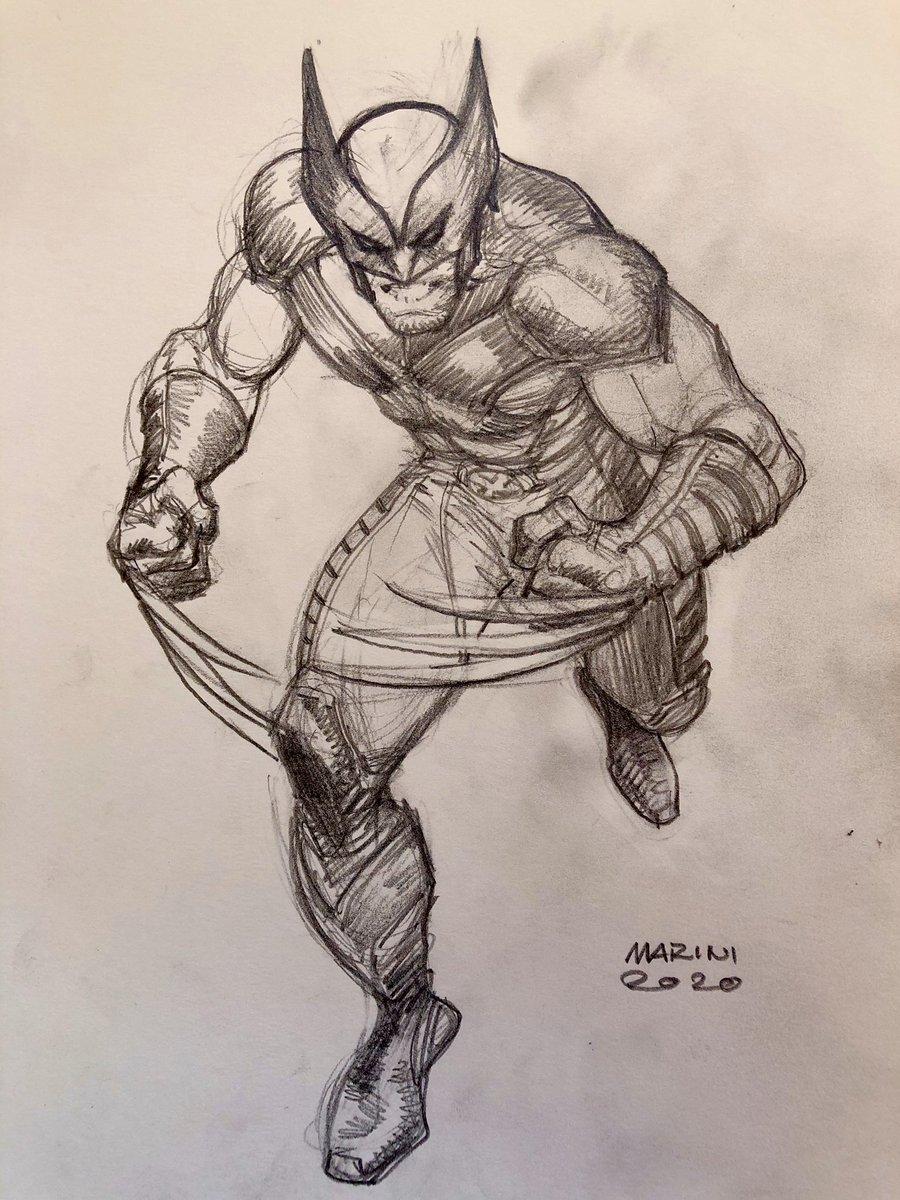 WOLVERINE X Men sketch