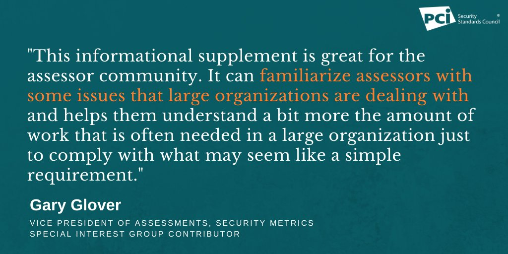 test Twitter Media - Assessor and SIG Contributor @SecurityMetrics on the importance of the PCI DSS for Large Organizations Special Interest Group paper for assessors: https://t.co/MLGnZy2WVS https://t.co/cLxXCEPi7y