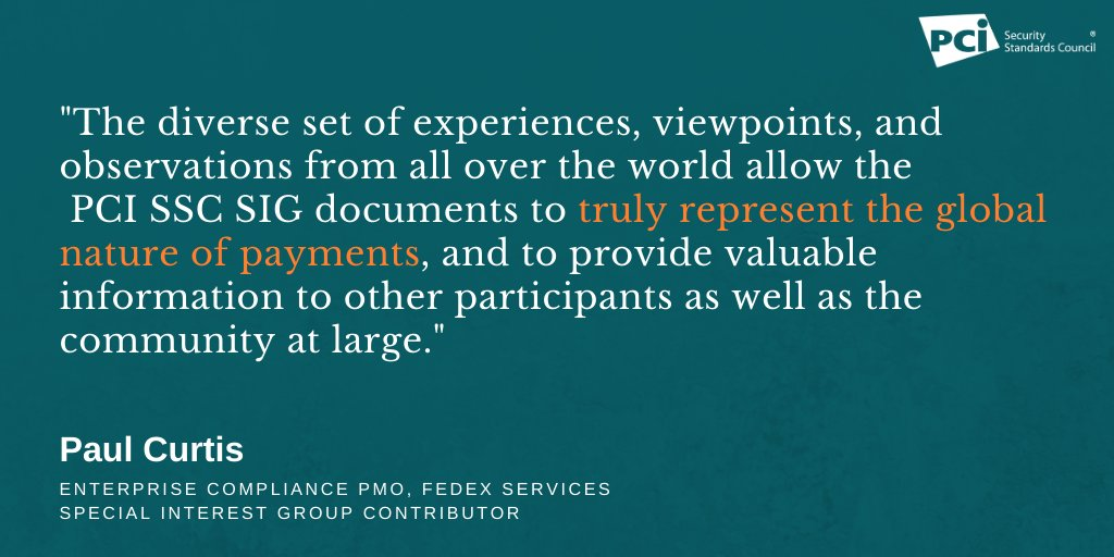 test Twitter Media - Why are PCI Special Interest Groups important to the payments industry? Hear from a recent SIG contributor and read the most recent paper published: https://t.co/MKbF4zpy1E Quote via SIG Contributor @FedEx https://t.co/Pe9M19vxl7