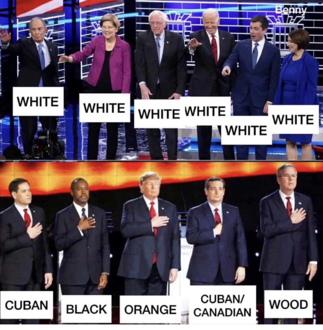 Democrats yap about diversity, and yet... (silly, but funny)