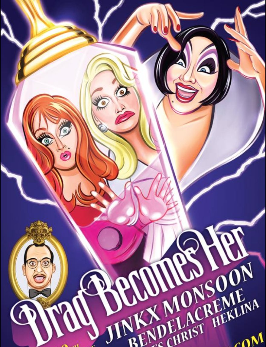 Live forever! Join @JinkxMonsoon @bendelacreme @PeachesChrist myself and more for DRAG BECOMES HER in SF on March 14th at the @Castro_Theatre Back by popular demand! TIX available now: