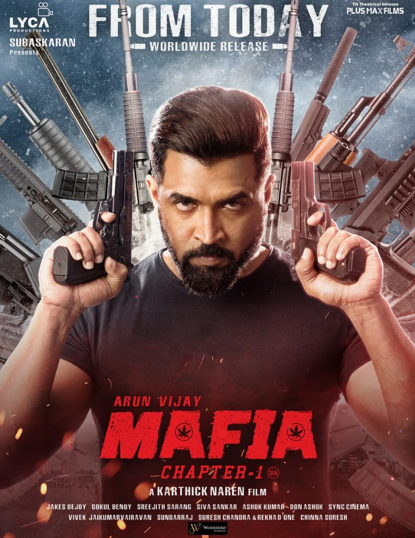 Join the action packed movie of @arunvijayno1 's #Mafia   Few More hours left for the #MafiaFDFS   #MafiaFromToday in your #RamCinemas @LycaProductions @karthicknaren_M @priya_Bshankar