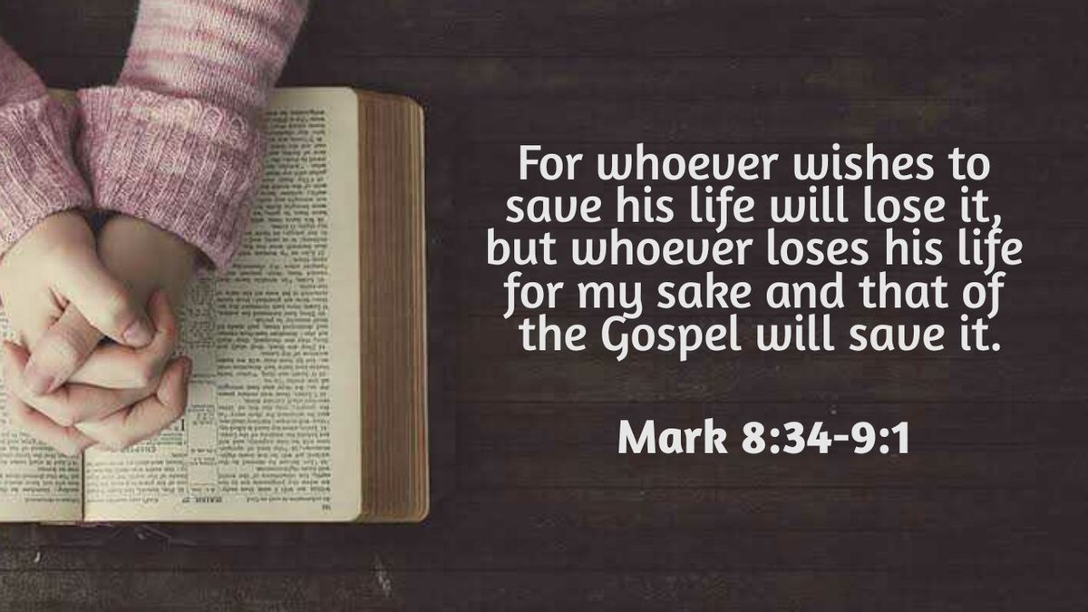 Live for God, for God's will, you shall be saved.  #GospeloftheDay #AranzazuVerbatims