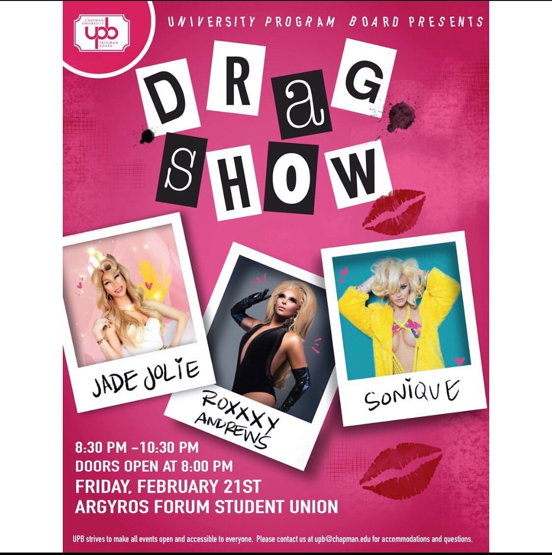 Excited for today at Chapman University with @xoSonique & @RoxxxyAndrews 🥰🥰🥰🥰