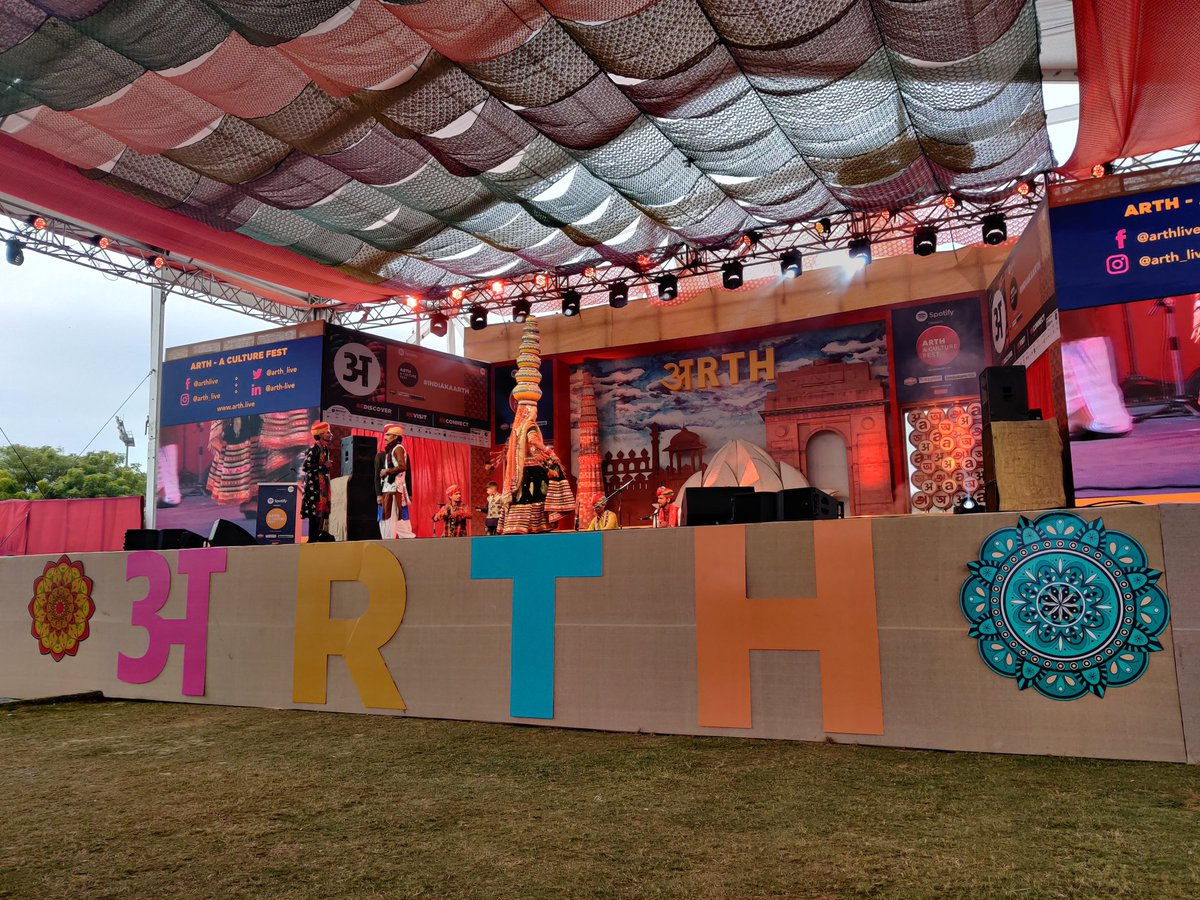 "A soulful rendition of the ""The Songs of the Desert"" from the Langas, Manganiyars and Kalbeliyas of Rajasthan led by Suram Nath & Band at Arth - A Culture Fest.  Watch it live:"