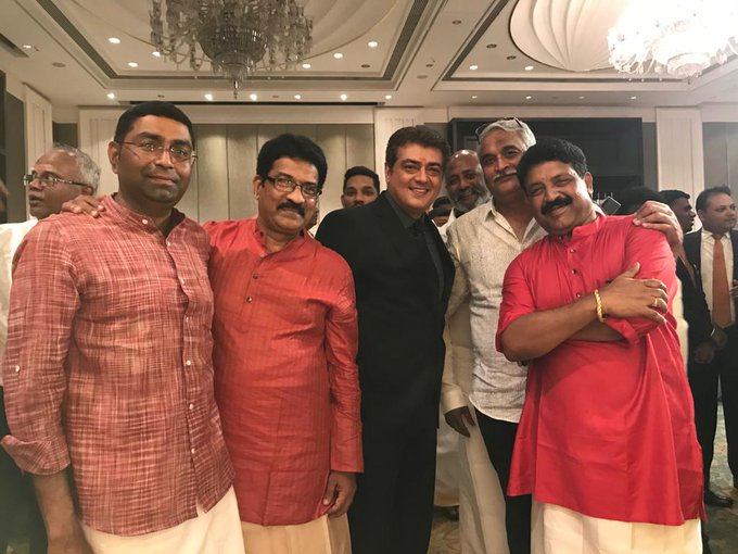 LATEST PIC OF THALA #AJITH WITH @SureshChandraa AT WEDDING FUNCTION IN CHENNAI.  #Valimai