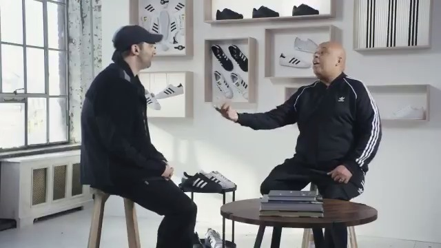 "In the first episode of ""Custom Made"" @RevRunWisdom joins @JLaPuma in creating a 1-of-1 custom adidas Superstar shoe. #SuperstarStyle WATCH HERE 👉🏽"