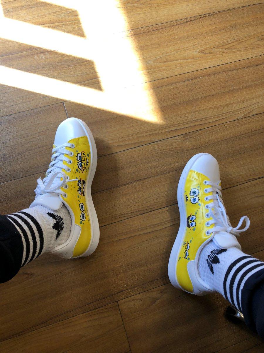 STANSMITH×スポンジボブ これが初めて描いたスニーカー👟 #adidas #custompaint #SNKRS  #カスタムペイント #スニーカー #sneaker