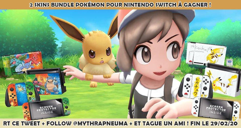 🎁 Concours: 2 Skins Nintendo Switch Pokémon à gagner. Follow @MythraPneuma RT ce tweet et tague un ami qui gagnera le second exemplaire. 🥳
