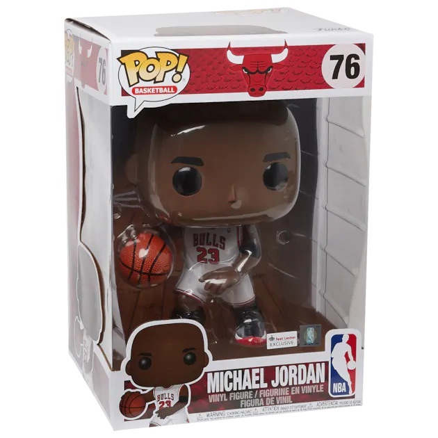 "Michael Jordan 10"" Funko Pop! Foot Locker Exclusive restock  Link ->   *FLX members get FREE shipping, h/t @darrenhester85"