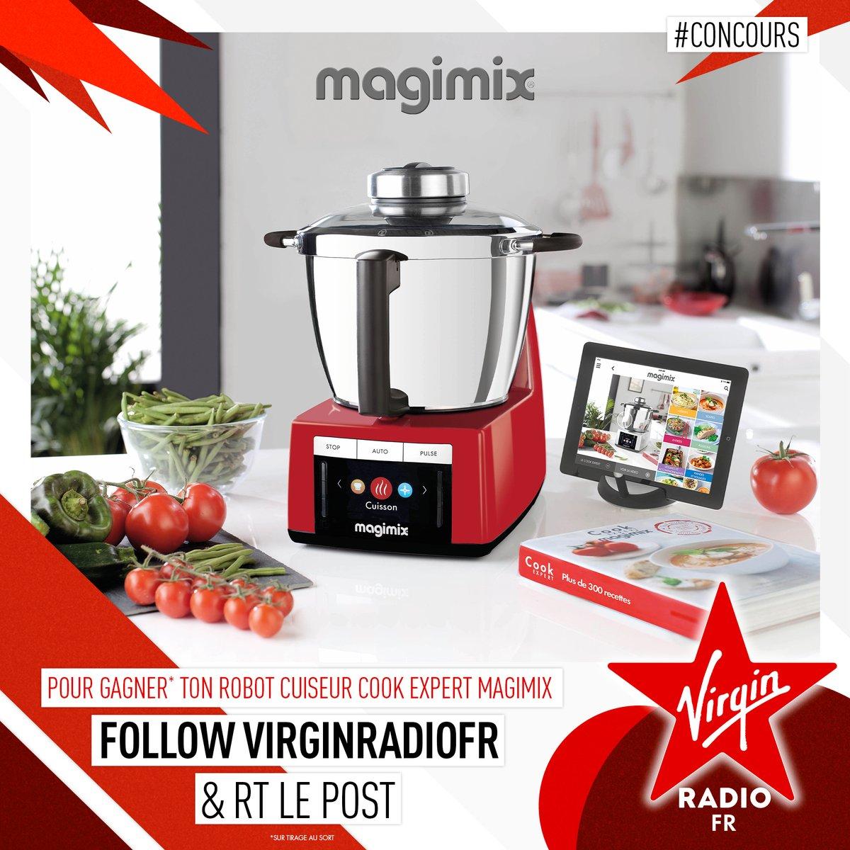 **CONCOURS** Qui n'a jamais rêvé d'être un cuistot de compétition ? @VirginRadiofr et @Magimix vous font gagner votre robot cuiseur Cook Expert 👨🍳  👉 Pour participer, FOLLOW @VirginRadiofr et RT ce tweet !
