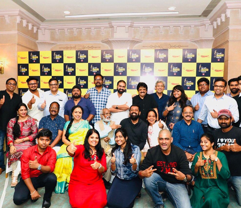That's our Jury Team for Mirchi Music Awards !!! One week to go🤩 #mirchimusicawards #grandjury #mirchiawards #jurymeet #musicians #legends #singers #awards #mmasouth @Dhananjayang @sri50 @singersrinivas