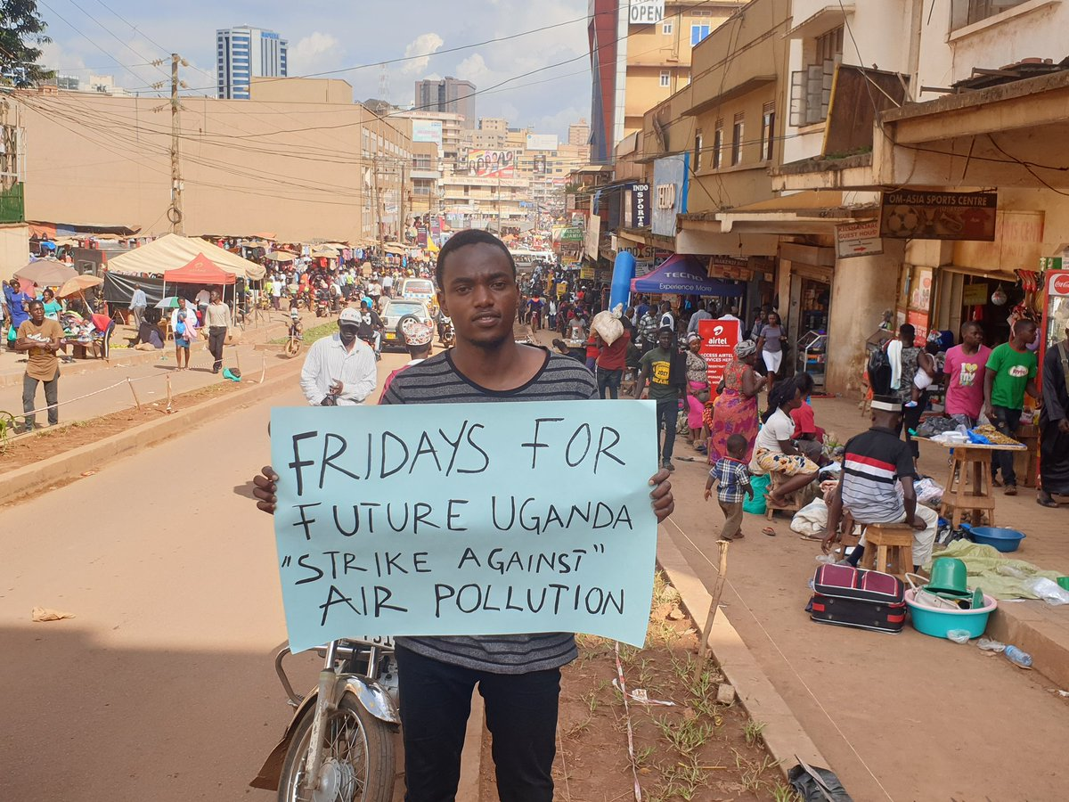 School strike for climate in Uganda's capital city, Kampala. I call upon more boys to join the strike. #FridaysForFuture  #ClimateStrike