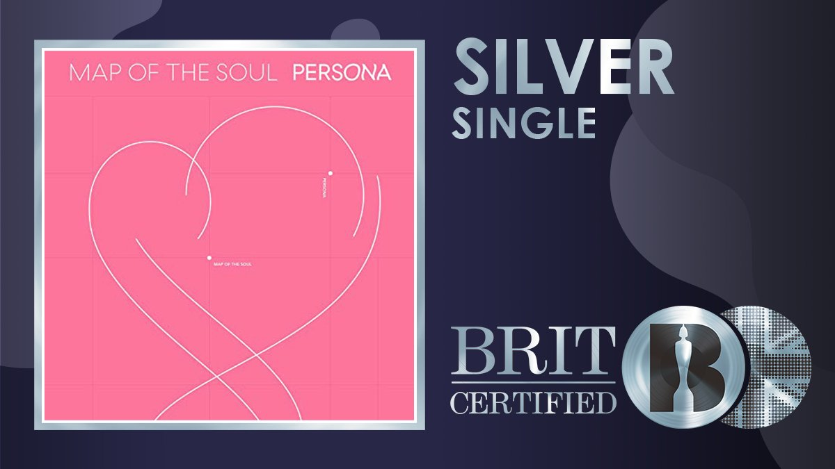 💖 @BTS_twt's single 'Boy With Luv' featuring @halsey is #BRITcertiified Silver 💿