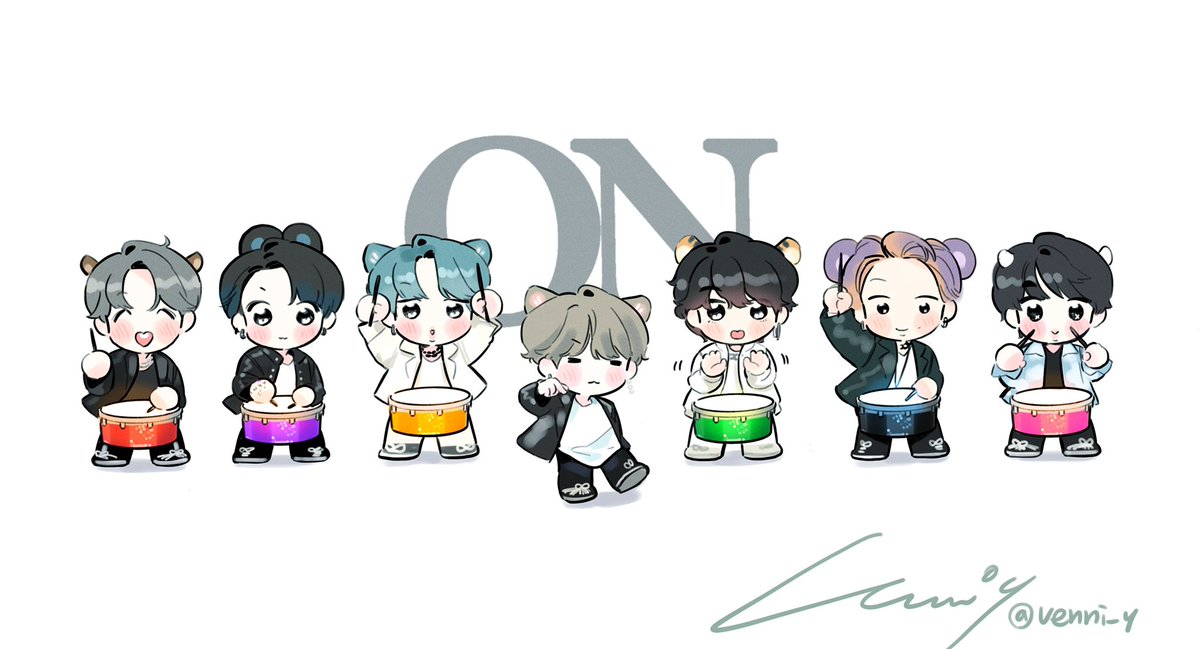 ON! 🥁🥁🥁🐱🥁🥁🥁✨ #BTS #ON #MAP_OF_THE_SOUL_7 @BTS_twt