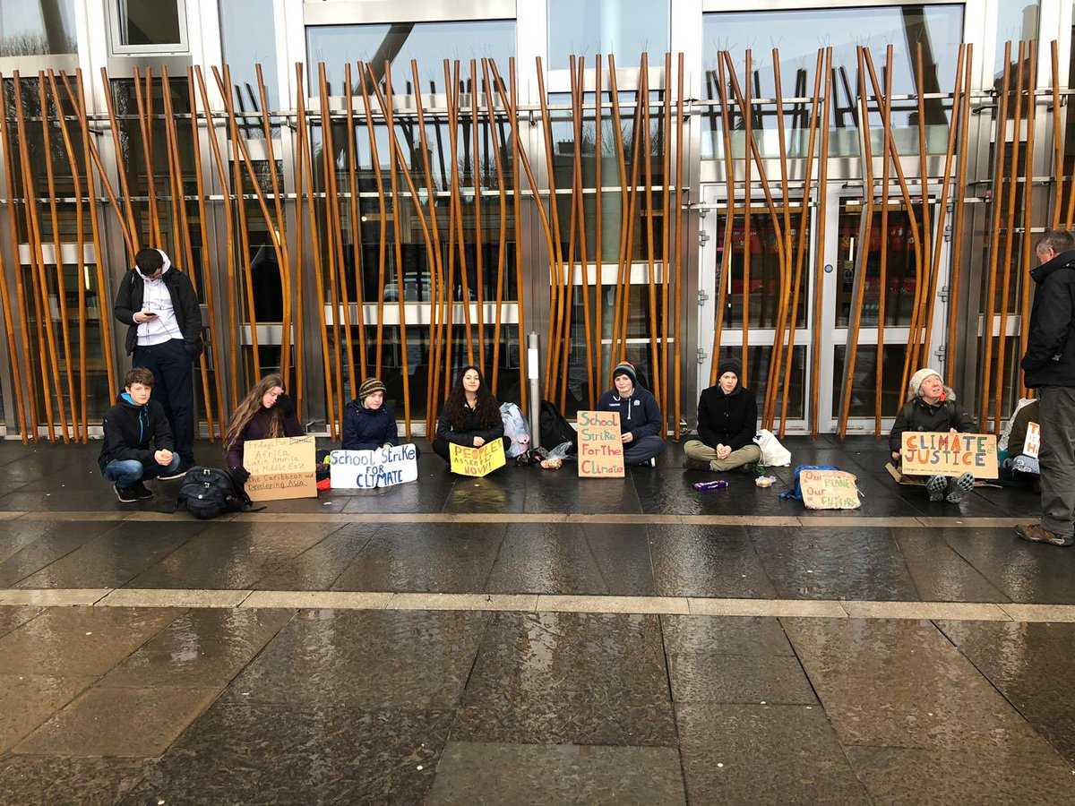 #ClimateStrike week 54 at the Scottish Parliament. I'm a bit sick at the moment, but still made it out. #FridaysForFuture