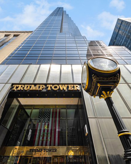 Did you know that @TrumpTower is open to the public daily from 8am to 10pm? Come eat, drink and shop with us on your next trip to New York City 🗽
