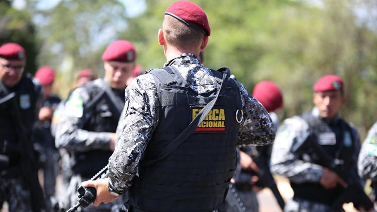 MJSP prorroga atuação da Força Nacional na segurança da penitenciária federal em Porto Velho (RO). Trabalho de policiamento no perímetro interno da penitenciária é feito em apoio ao Depen