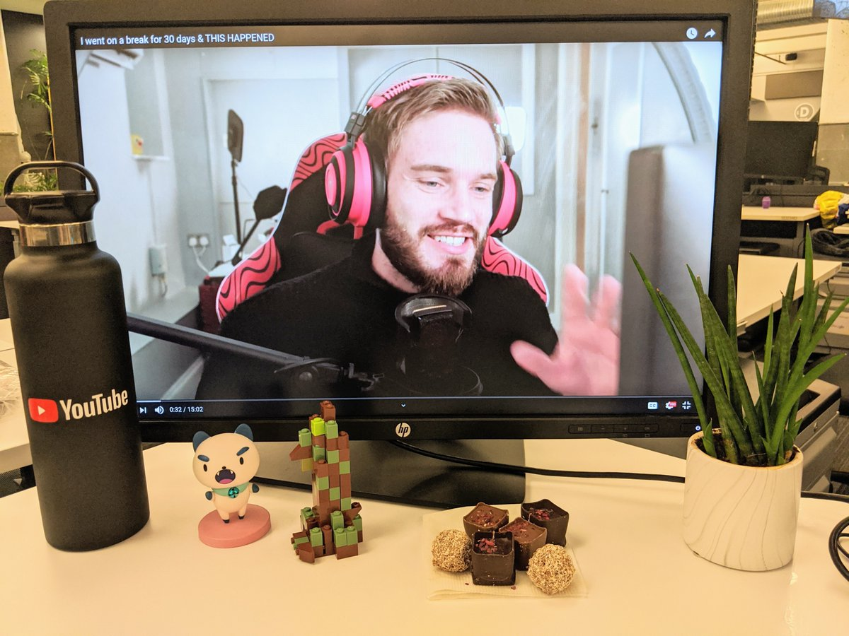 We built, we baked, we gardened... and now we're back to watching your videos. Welcome back, @PewDiePie!