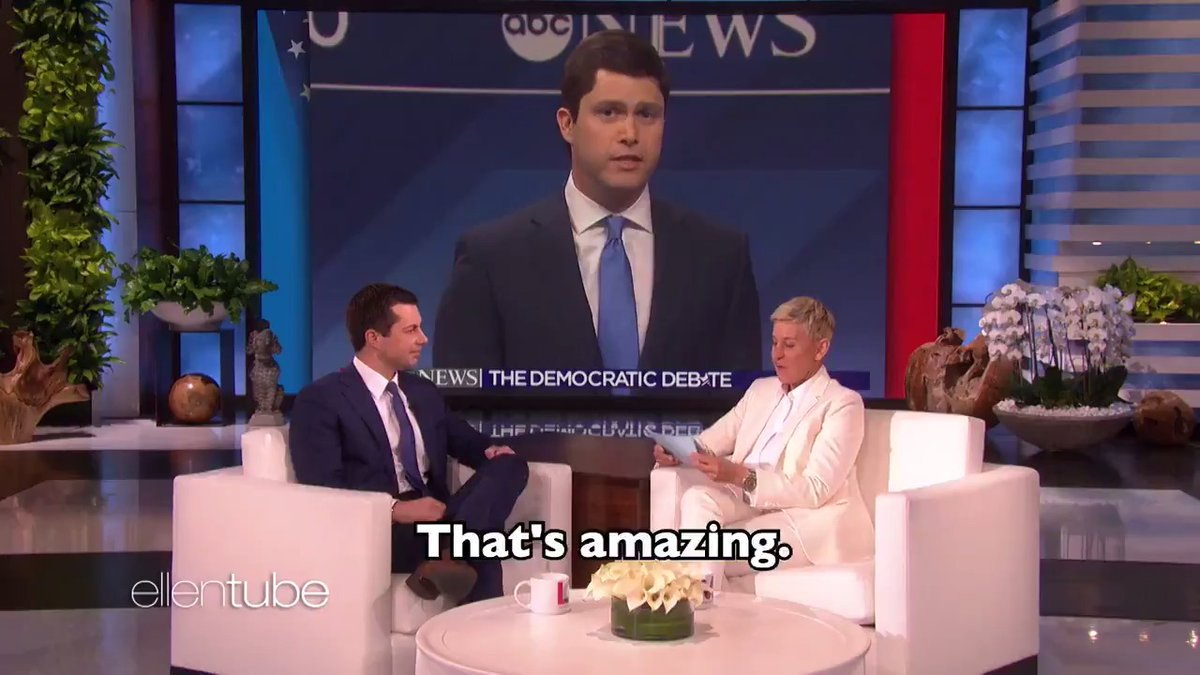 """.@PeteButtigieg was here to play my new game, """"Candidly Candid Candidate."""" I hope you're watching, @ColinJost."""