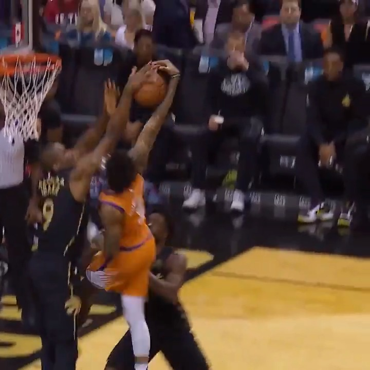 The announcer on this Serge Ibaka block 😂  (via @NBA)