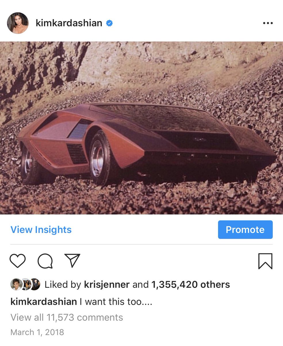 How crazy 2 years ago I posted this one of a kind concept car, a 1970 Lancia Stratos HF Zero and now I shot with the same car for my new @skims shoot! Dreams come true! https://t.co/x1KGJXYrZc