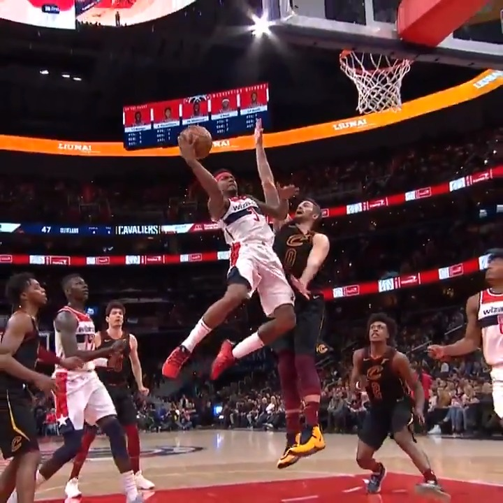 Bradley Beal's layup package is too smooth.  (via @NBA)