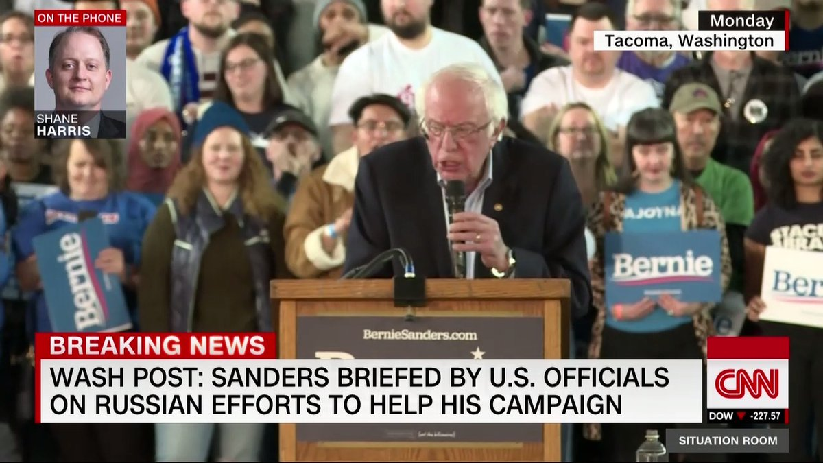 "Bernie Sanders: ""Here is the message to Russia: Stay out of American elections. … That is what they did in 2016 and that is the ugliest thing they are doing, is they are trying to cause chaos, they are trying to cause hatred in America"""