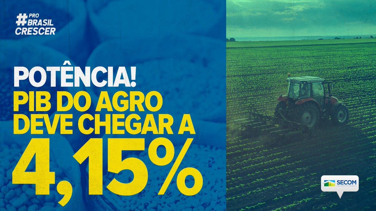 Um dos principais motores da economia brasileira, o segmento agropecuário terá mais um ano de grandes resultados. O PIB do setor deve registrar alta de 3,4% a 4,15% em 2020, uma forte aceleração em relação a 2019, quando o crescimento foi de 0,7%. Fonte: Ipea