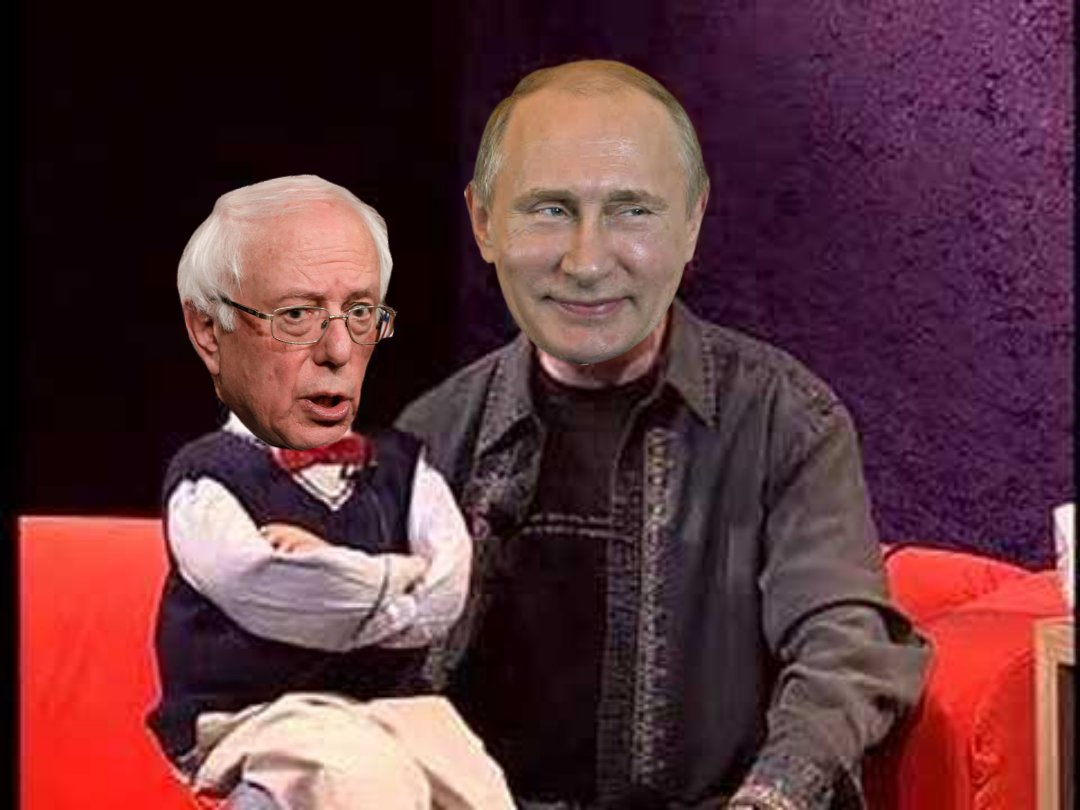 """RT @k_ovfefe2: Here's a """"Bernie is Putin's puppet"""" meme for no particular reason https://t.co/UM2iDYfaPy"""