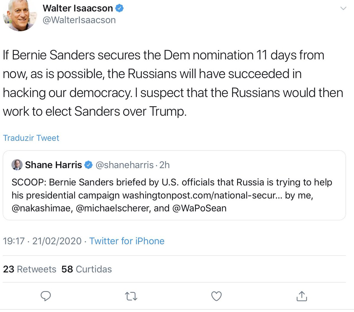 This is the historically stupid and monumentally deranged tweet that @WalterIsaacson seems to have deleted without comment: