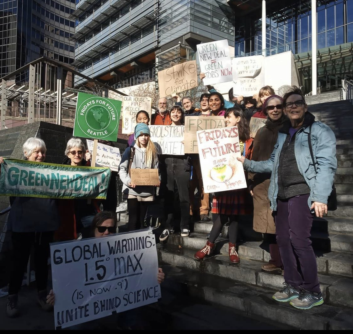 The #ClimateJustice movement is only getting stronger!  It was great to see some new faces at the #FridaysforFuture #ClimateStrike at Seattle City Hall today. Feb 21, 2020 #ClimateActionNow!