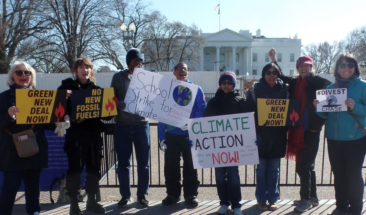 White House Climate Strike Week 56  Joined by many local activists from all over the Washington DC Area and travelers from New York City (@PathBalance). We chanted, we sang, we talked to Trump supporters and spoke about the importance of the Climate Change Education Act.
