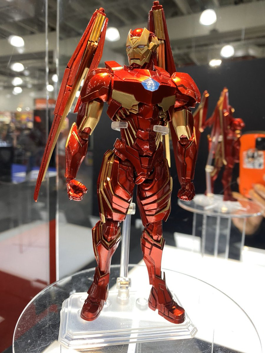 Premiering at New York Toy Fair; Marvel Universe Variant BRING ARTS Designed by Tetsuya Nomura series: Iron Man, Captain America, Spider-Man prototypes & Thor concept sketch! Found at Square Enix booth 5469. #nytf #Marvel