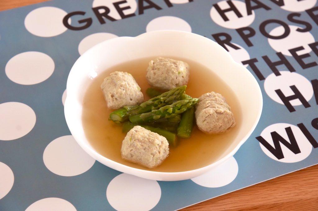 test ツイッターメディア - オイシックスの #うまみダイエット 4日目朝食。アスパラと魚団子のスープ。  5日分がまとめて届くのですが、4〜5日目メニューは冷凍なので、賞味期限が数ヶ月先なのが便利だと思いました。  もちろん味もあっさりしていてGOOD👍  #Oisixのツイレポ部  #Oisixダイエット部 https://t.co/0Zl6VDl60R